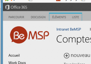 Office 365 chez BeMSP