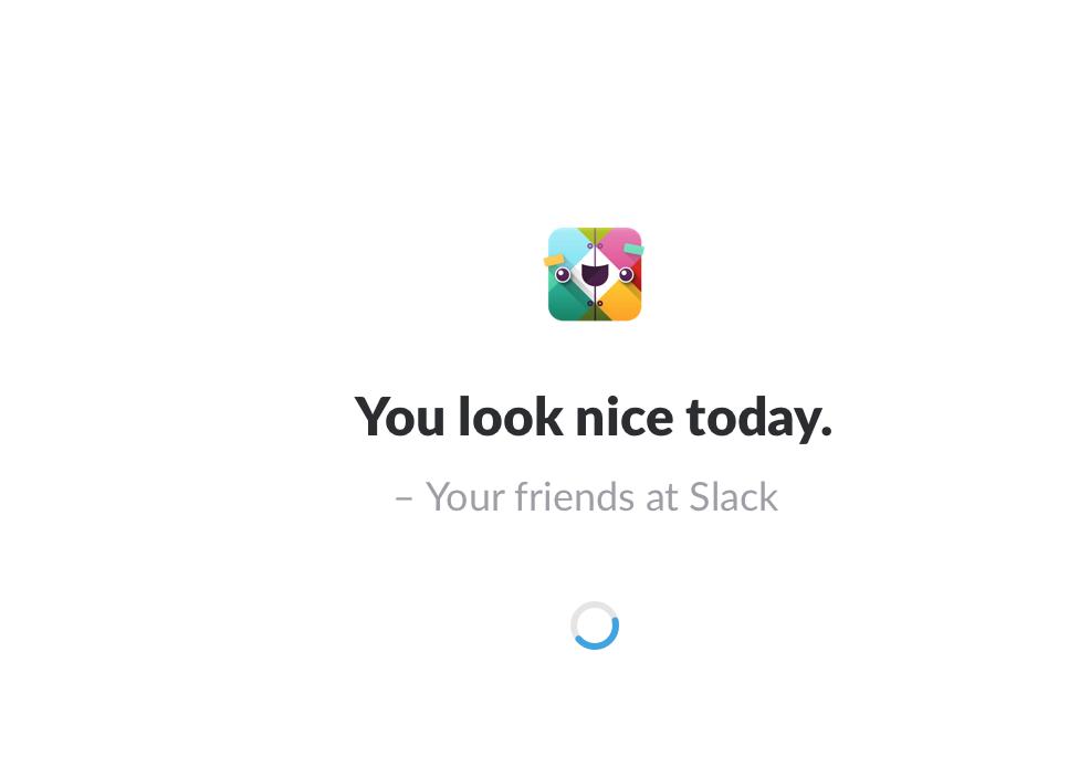 écran accueil Slack
