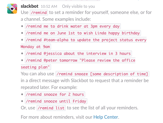 Commandes fonction Reminder