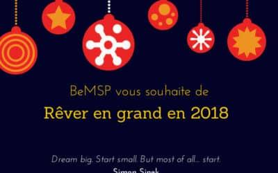 BeMSP vous souhaite de rêver en grand en 2018