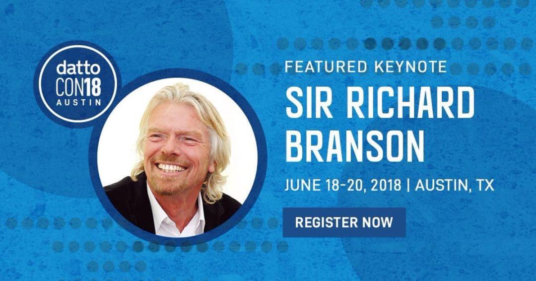 Sir Richard Branson prononcera la keynote à la DattoCon18
