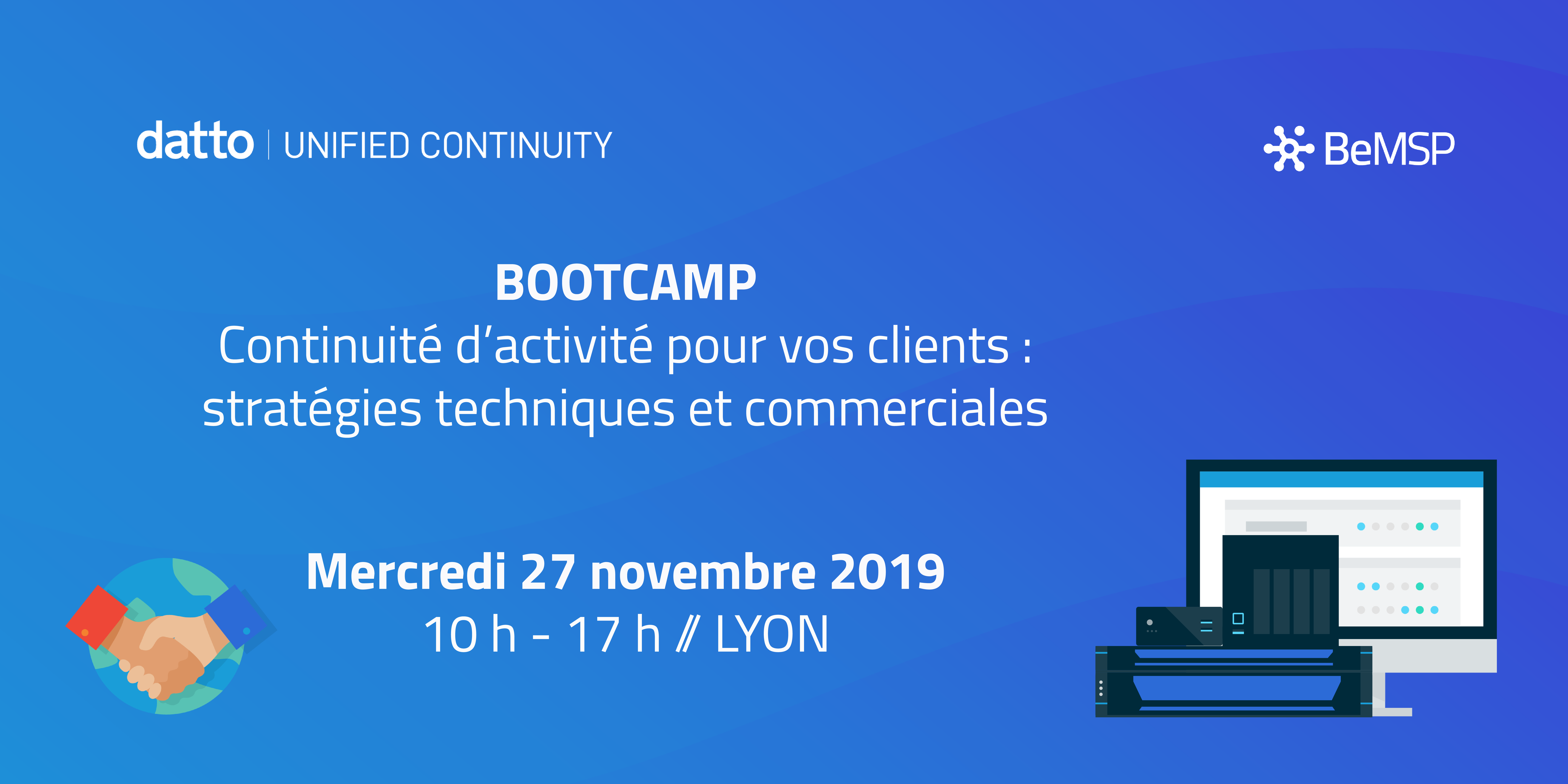 [Bootcamp] Datto Unified Continuity – Mercredi 27 novembre à Lyon