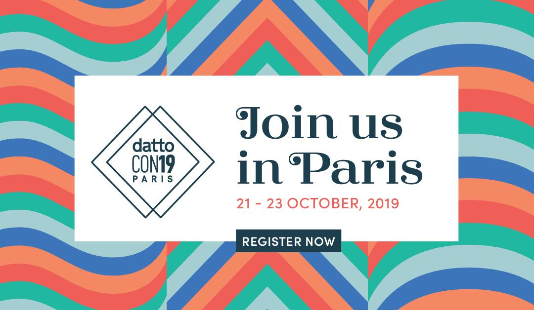 [DattoCon Paris] Programme dédié pour les prestataires IT français