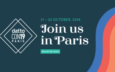 Plus grand événement européen pour les MSP : DattoCon Paris du 21 au 23 octobre 2019