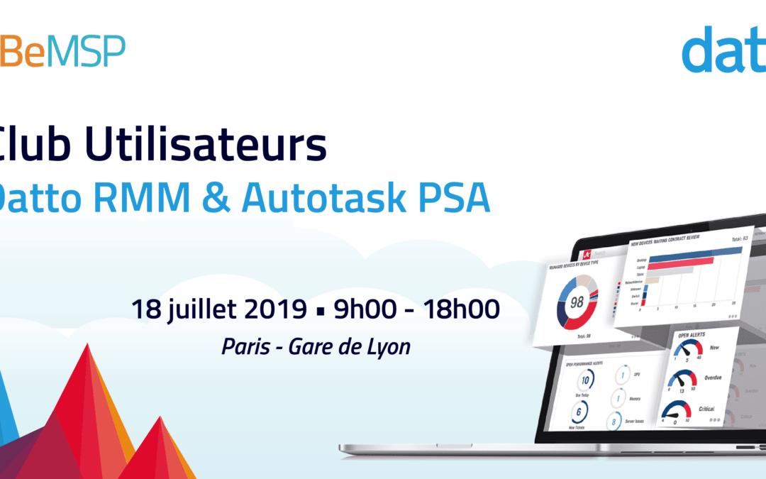 [Meeting] Club Utilisateurs Datto RMM & Autotask PSA 2019