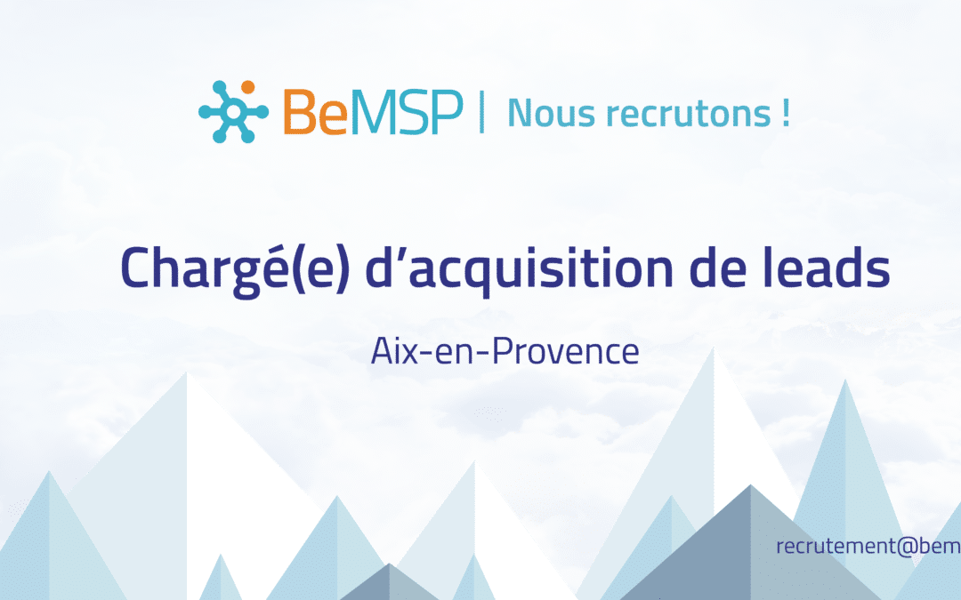 [Recrutement] Chargé(e) d'acquisition de leads