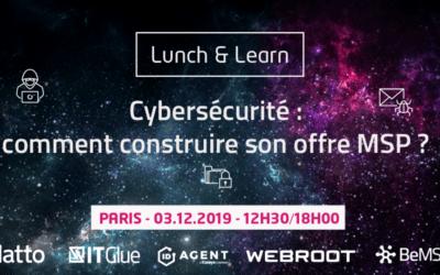 [Event] Cybersécurité : comment construire son offre MSP ? Mardi 3 décembre à Paris