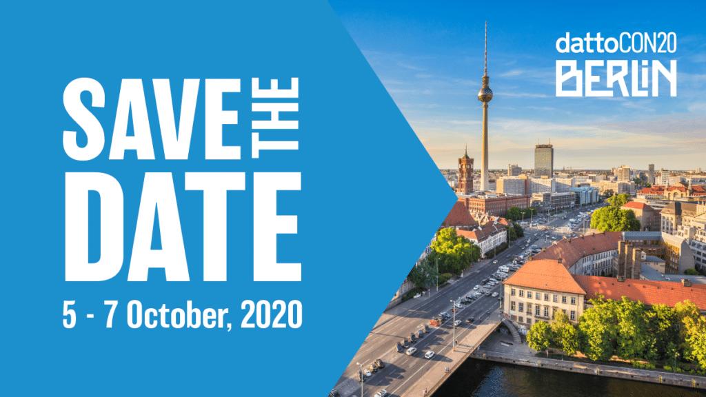 DattoCon Berlin du 5 au 7 octobre 2020