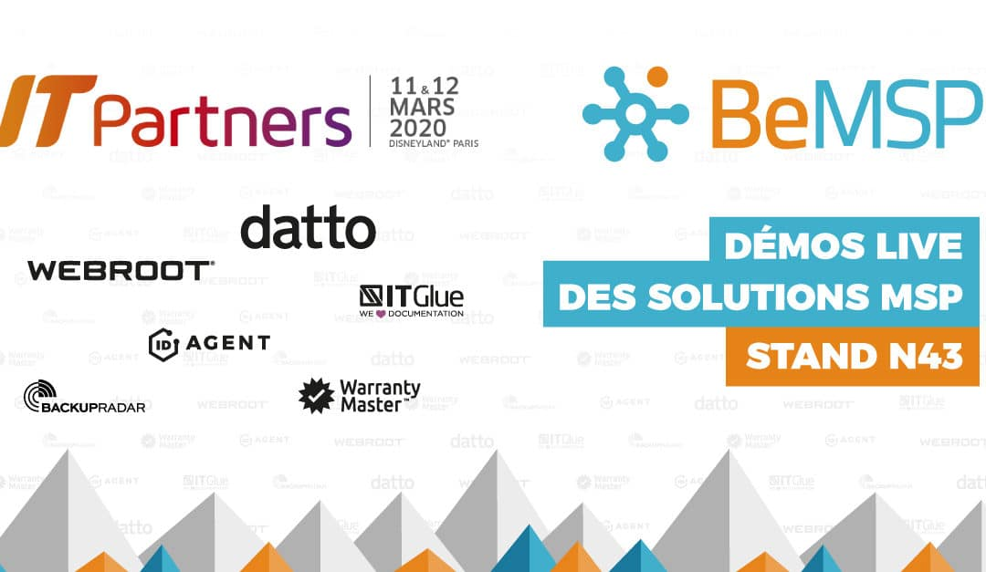 [IT PARTNERS // Reporté] Un programme full MSP – 11 et 12 mars (stand N43)