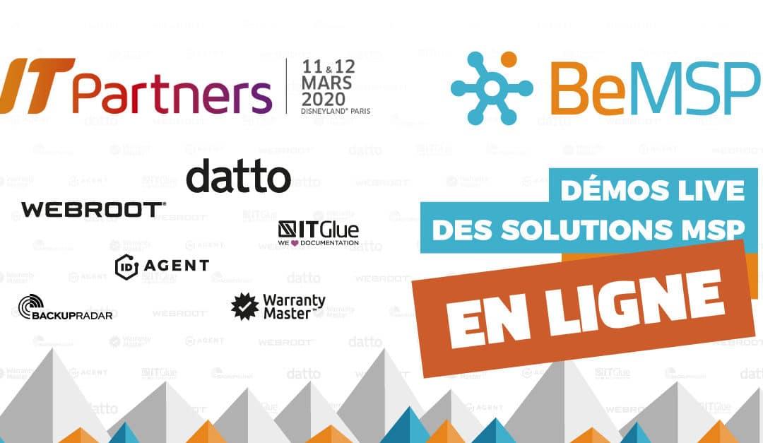 Démos des solutions MSP // IT Partners Virtuel : 11 et 12 mars 2020