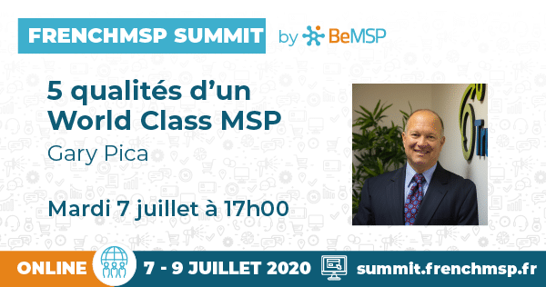 La légende du MSP Gary Pica speaker au FrenchMSP Summit