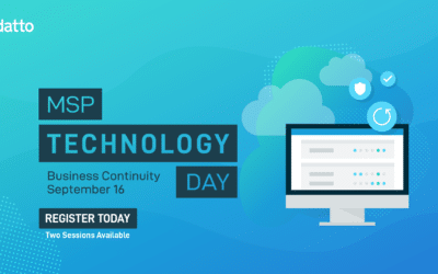 Datto MSP Technology Day : Business Continuity – 16 septembre 2020