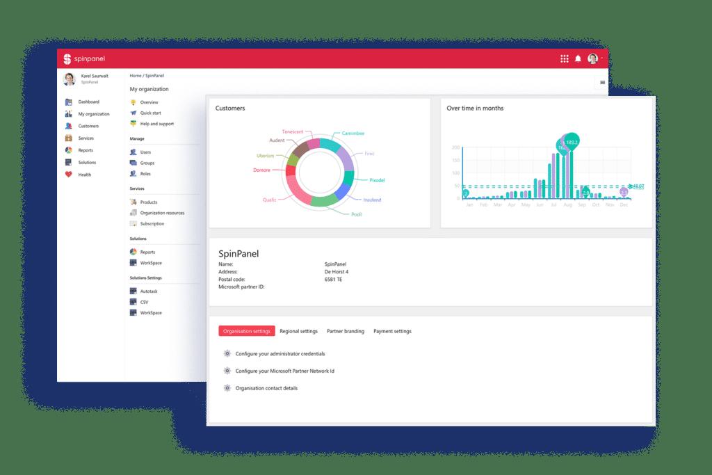 SpinPanel - Plateforme de gestion cloud pour les partenaires Microsoft