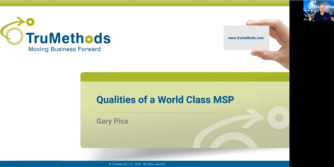 5 qualités d'un MSP World Class – Gary Pica [Replay]