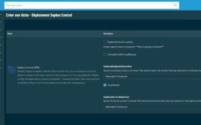 Intégration Datto RMM Sophos Central pour les MSP