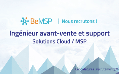 [Recrutement] Ingénieur(e) avant-vente/support solutions Cloud